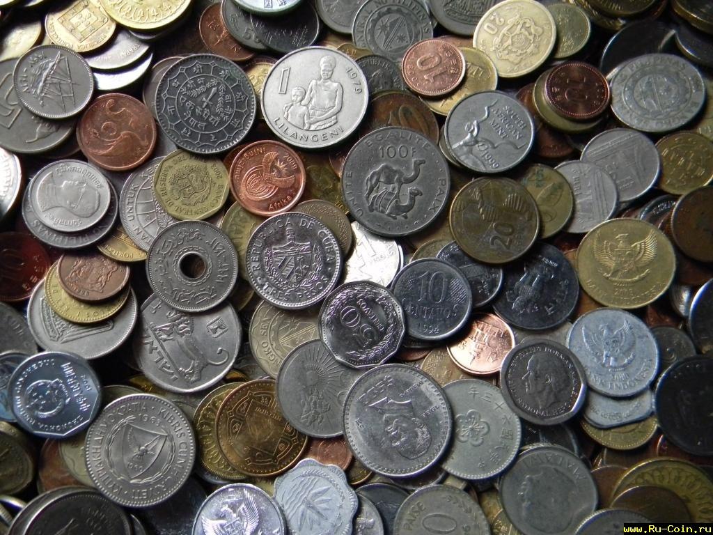 И вновь, очередное большое поступление монет экзотических стран мира на вес от 1 кг